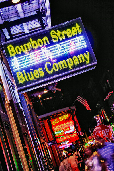 French Quarter & Bourbon Street at Night
