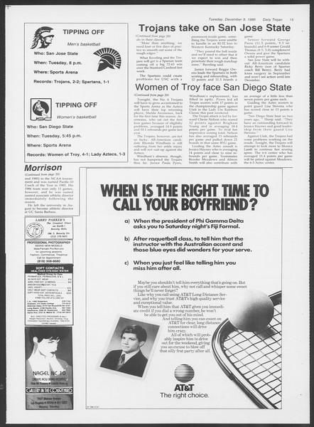 Daily Trojan, Vol. 102, No. 67, December 09, 1986