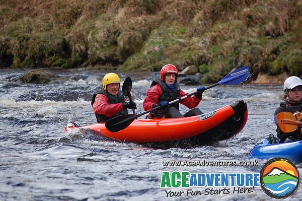 Mild rafting & duckies middle Findhorn
