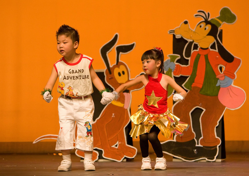 Children from Varee Chiang Mai School perform at their annual school show at the Kad Theatre.