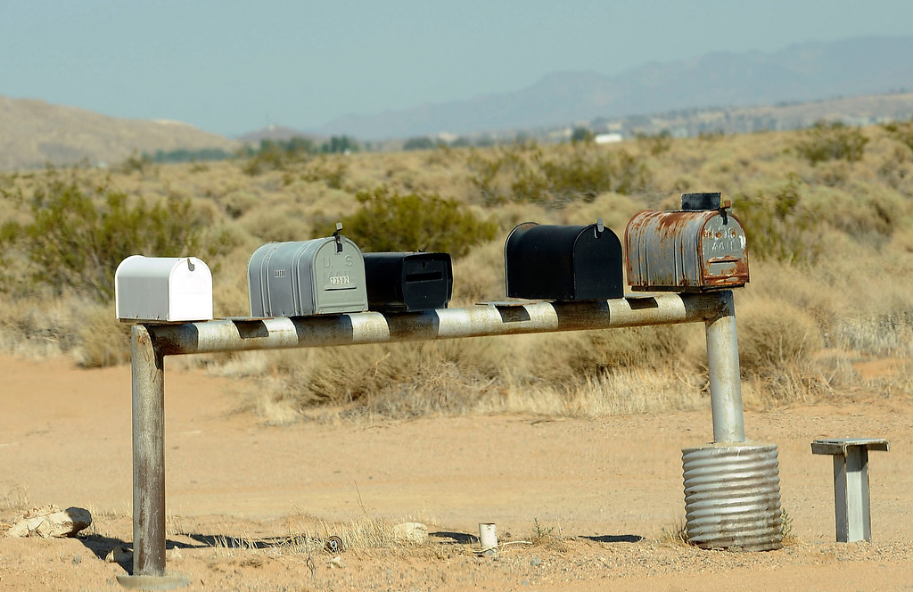 . A view of a mail boxes along the side of a road in the community of Hinkley June 13, 2012.  GABRIEL LUIS ACOSTA/STAFF PHOTOGRAPHER.  .