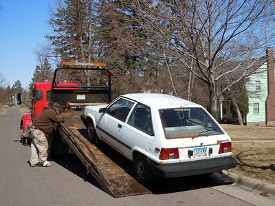 "2011 04 13: 1983 Toyota Goes Bye-Bye w/ ""Mr. Pickov Antowov"" [Carla's Photos]"