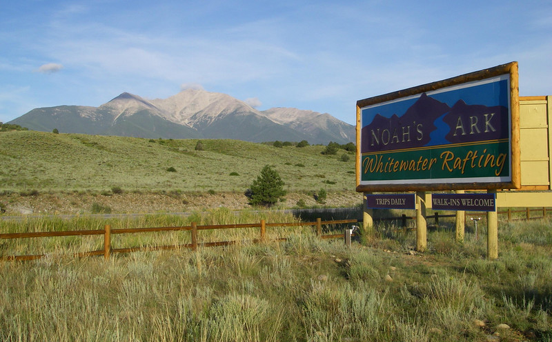 OK - Noah's Ark, on Hwy 285 about 3.5 miles south of Hwy 24 (close to Buena Vista). Mt. Princeton in the back - one of the Collegiate 14ers.