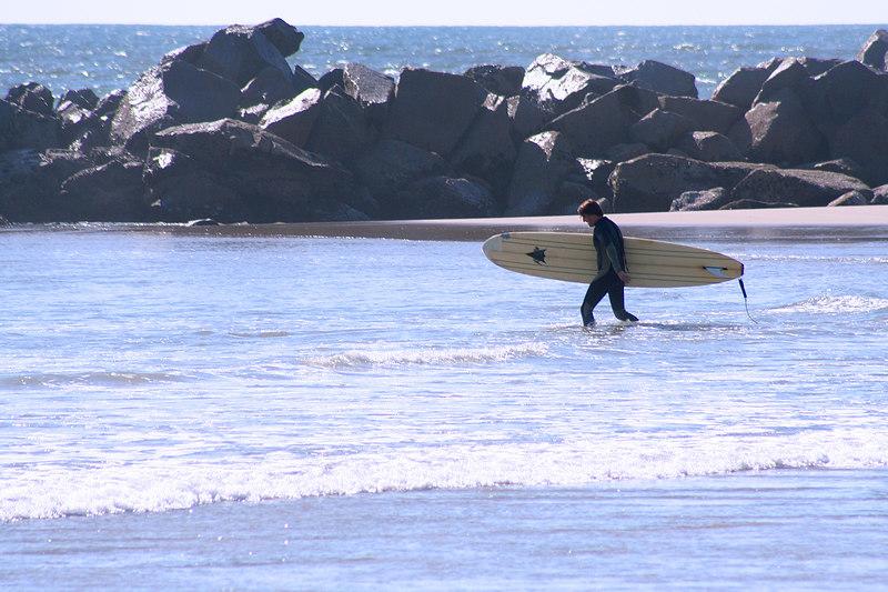 Surfer on Venice Beach