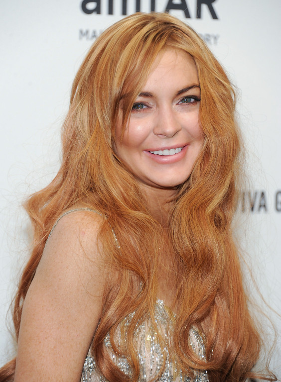 . Actress Lindsay Lohan attends amfAR\'s New York gala at Cipriani Wall Street on Wednesday, Feb. 6, 2013 in New York. (Photo by Evan Agostini/Invision/AP)