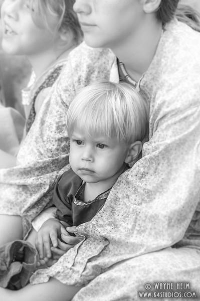Watching Daddy    Black & White Photography by Wayne Heim