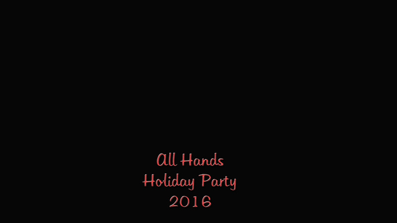 All Hands Holiday Party 2016