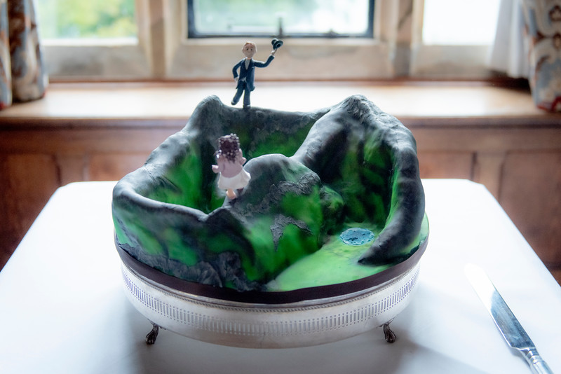 Our vegan wedding cake - in the shape of Mt Snowdon! By Welsh cake maker Emma James