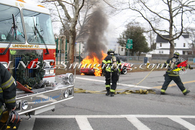 Lindenhurst F.D. Vehicle Fire West John St & New York Ave. 12-31-13