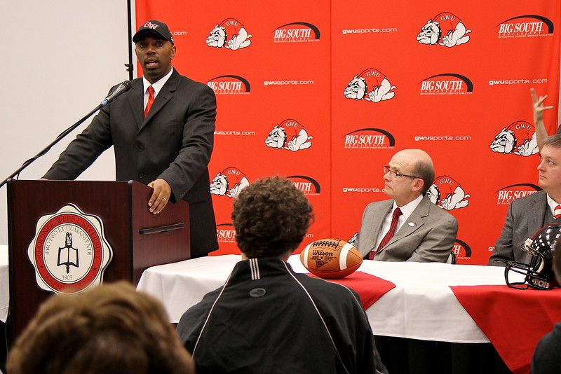 Ron Dickerson Jr. named Gardner-Webb's football coach; January 26, 2011.