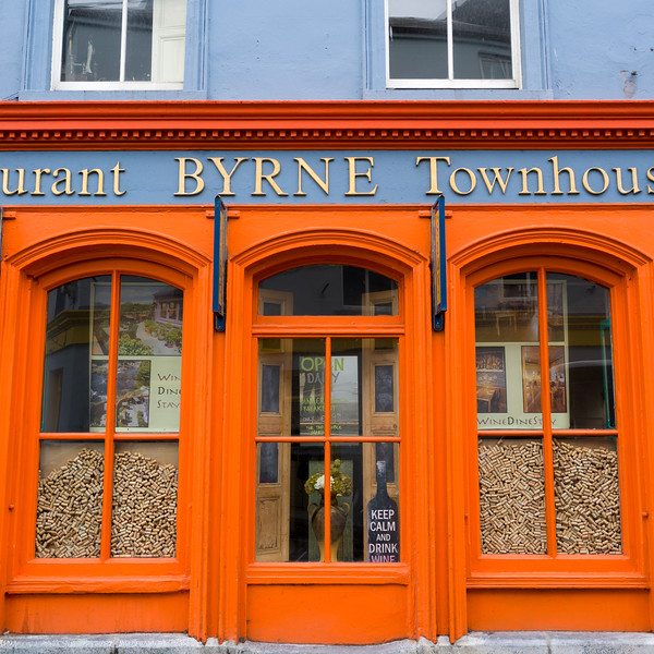 Low angle view of Byrnes Restaurant And Townhouse, Main Street, Ennistimon, County Clare, Ireland