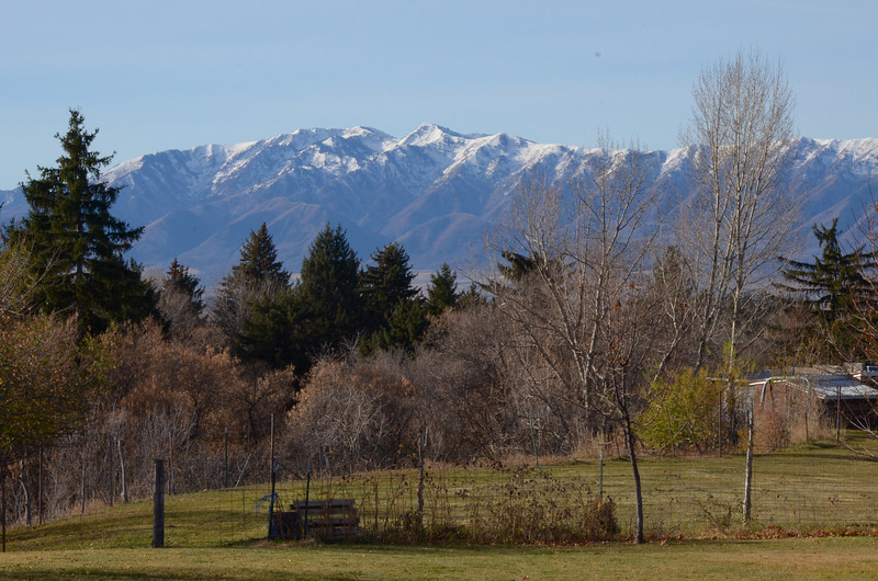 Wellsville Mountains in Cache Valley Utah. Thanksgiving Day 2012