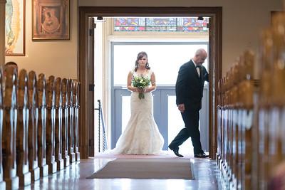 Ceremony- Christen & Jacob Manuele New England Rustic Wedding Photography- Westfield MA The Ranch Golf Club, St. Mary's Catholic Church- Bridal Photo Studio