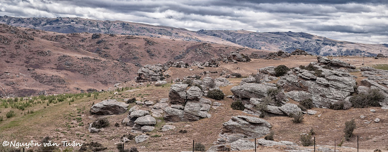 The rocky hills of Central Otago