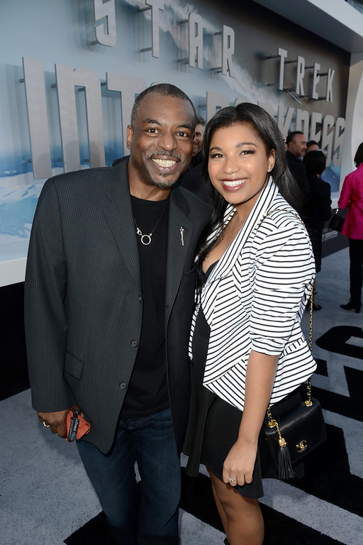 """. Actor LeVar Burton (L) and guest arrive at the Premiere of Paramount Pictures\' \""""Star Trek Into Darkness\"""" at Dolby Theatre on May 14, 2013 in Hollywood, California.  (Photo by Kevin Winter/Getty Images for Paramount Pictures)"""