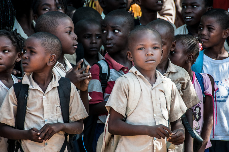 School kids at Point-Noire, Republic of Congo