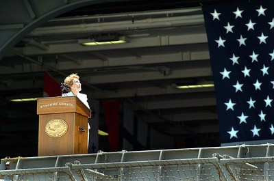 USS Reagan Homeporting Ceremony