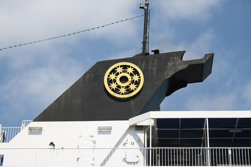 2009 - F/B PANTOKRATOR in Corfu : the funnel.