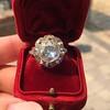 3.45ctw Antique Rose Cut Cluster Ring 9