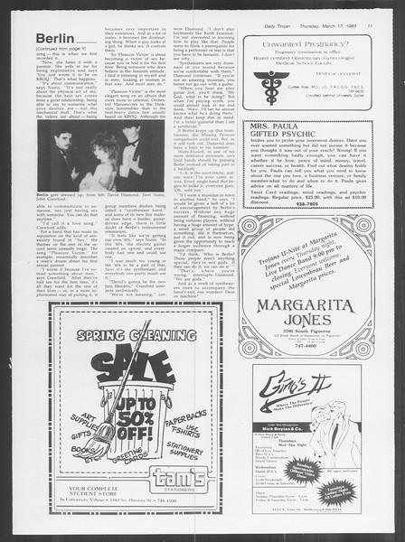 Daily Trojan, Vol. 93, No. 45, March 17, 1983