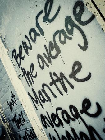 Beware the average man