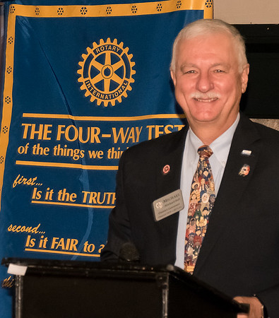 Past Dist Gov Michael Bell on Rotary Found'n  Nov 16