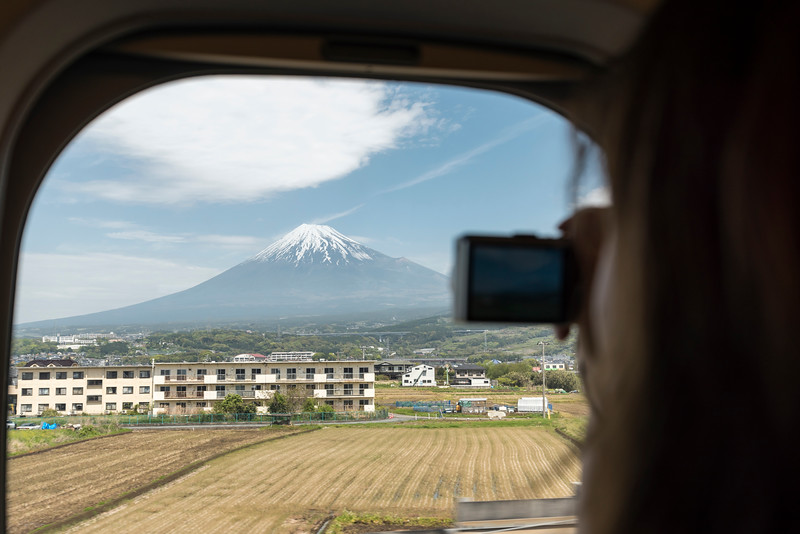 Mount Fuji from Shinkansen Train