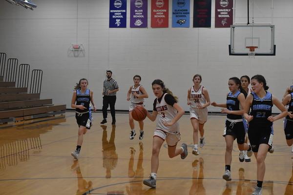 8th grade girls basketball vs. Elkhorn North