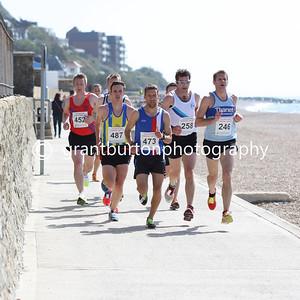 Start and Outward Run - Folkestone Coastal 10k - 2014