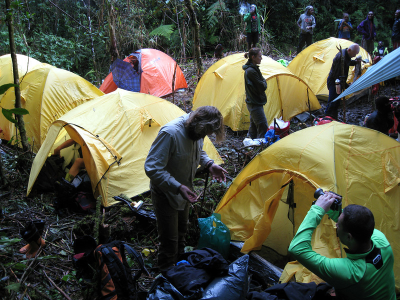 It wasn't pleasant spend night in wet tent.