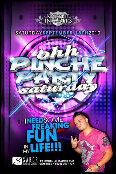Knight Invaders presents Ohh Pinche Party Saturday @ Sabor Tapas Bar & Lounge 9.18.10