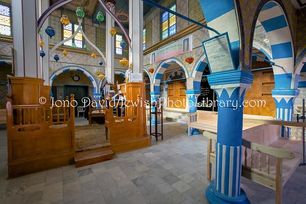 TUNISIA, Djerba, Hara Kebira. Synagogue Rabbi Eliezer Cohen (3.2016)