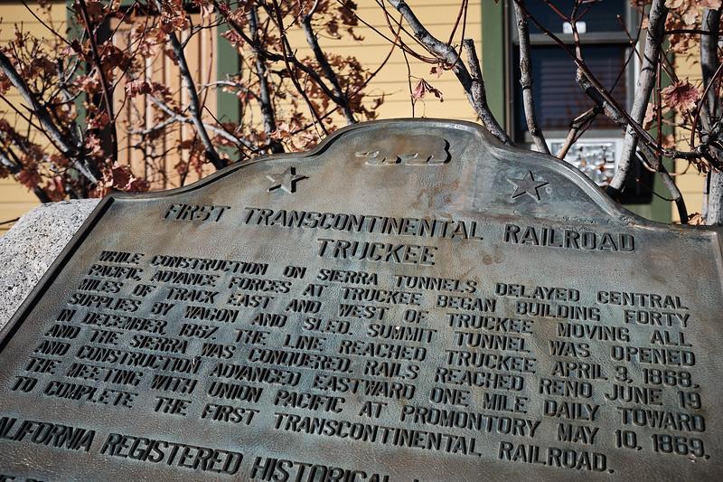 transcontinental railroad plaque