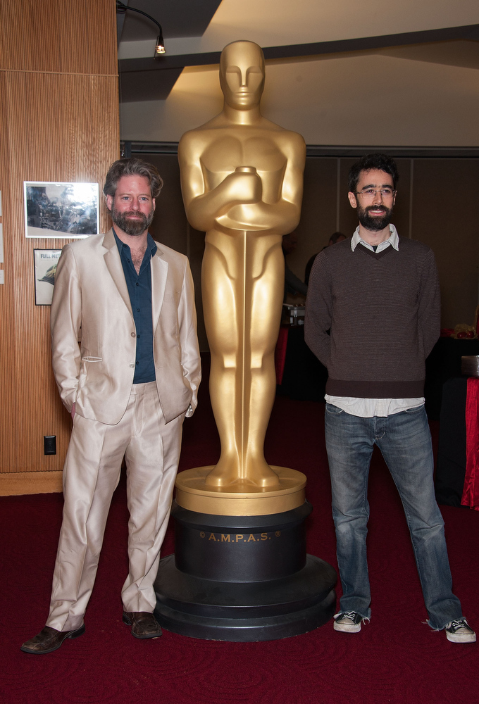 Description of . Sam French and Ariel Nasr attend  The Academy Of Motion Picture Arts And Sciences Presents Oscar Celebrates: Shorts at AMPAS Samuel Goldwyn Theater on February 19, 2013 in Beverly Hills, California. (Photo by Valerie Macon/Getty Images)