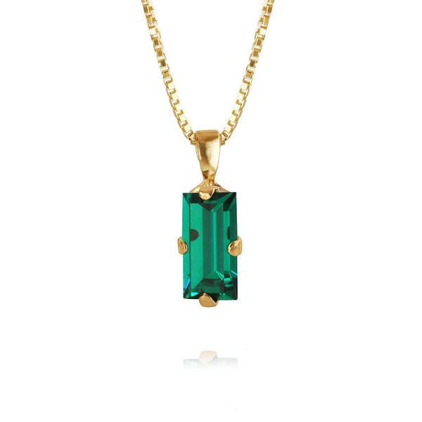 Baguette Necklace / Emerald Gold