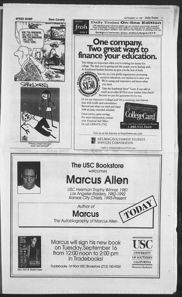 Daily Trojan, Vol. 132, No. 13, September 16, 1997