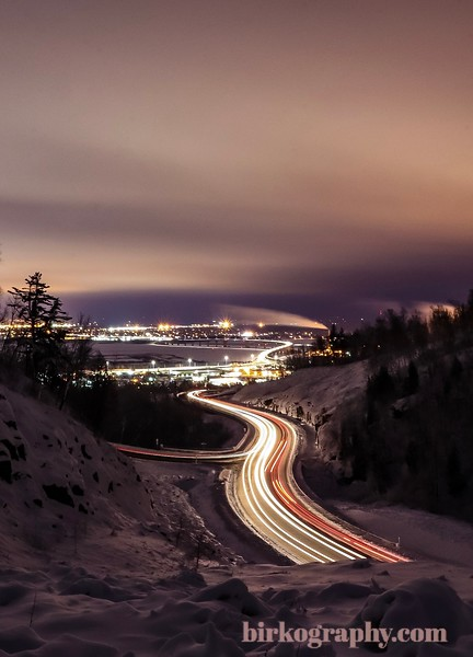 Long exposure from up in the hills of Duluth, MN