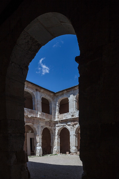 Courtyard of the Ducal Palace, Medinaceli, province of Soria, Spain