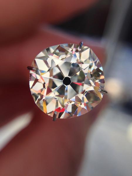 4.37ct Antique Cushion Cut Diamond