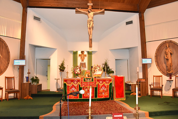 First Mass at new church