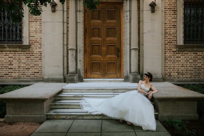 Editorial Bridal Session at the Julia Ideson Building - Houston Wedding Photographer