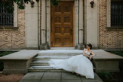 Editorial Bridal Session at the Julia Ideson Building - Houston Wedding Photographer