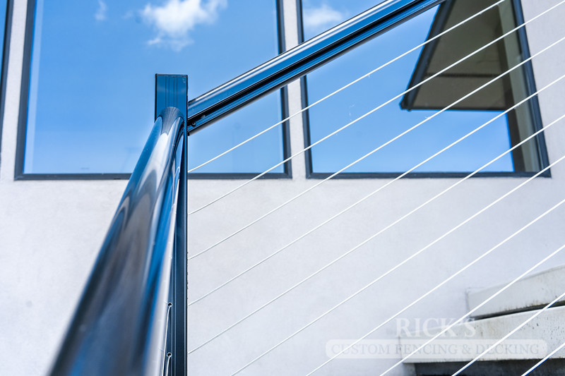 1700 - Aluminum Handrail with Stainless Steel Cable