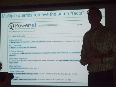 PowerSet Demo Day, June 29, 2007