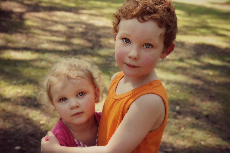 These sweeties are my great niece and nephew.  I think each could play a part in Little Orphan Annie.