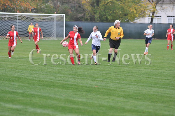 10-15-13 Sports D-II Sect Napoleon vs Wauseon girls soccer