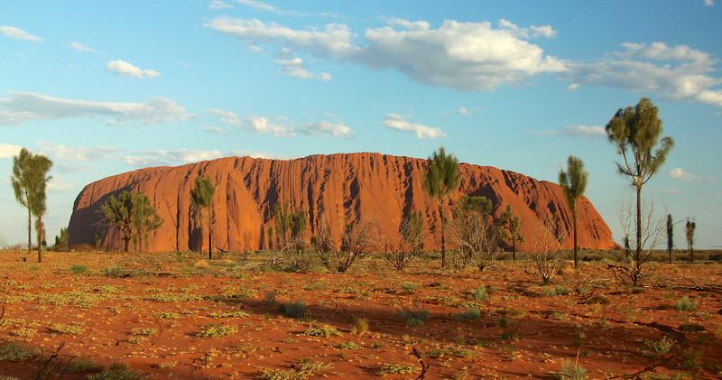 Uluru basking in the late afternoon sun