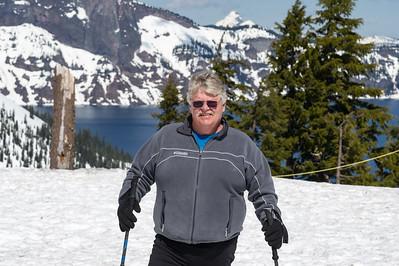Crater Lake snow shoe hike