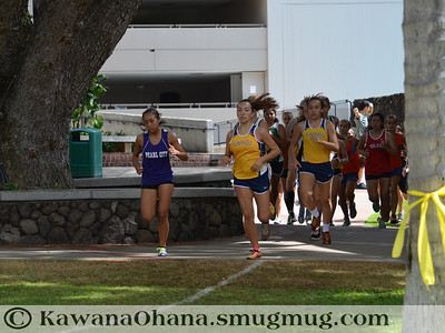 Punahou Invit Girls Open and JV Boys Cross Country 2012