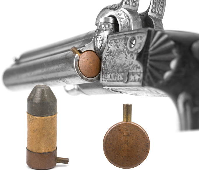 Early Gevelot pinfire cartridge